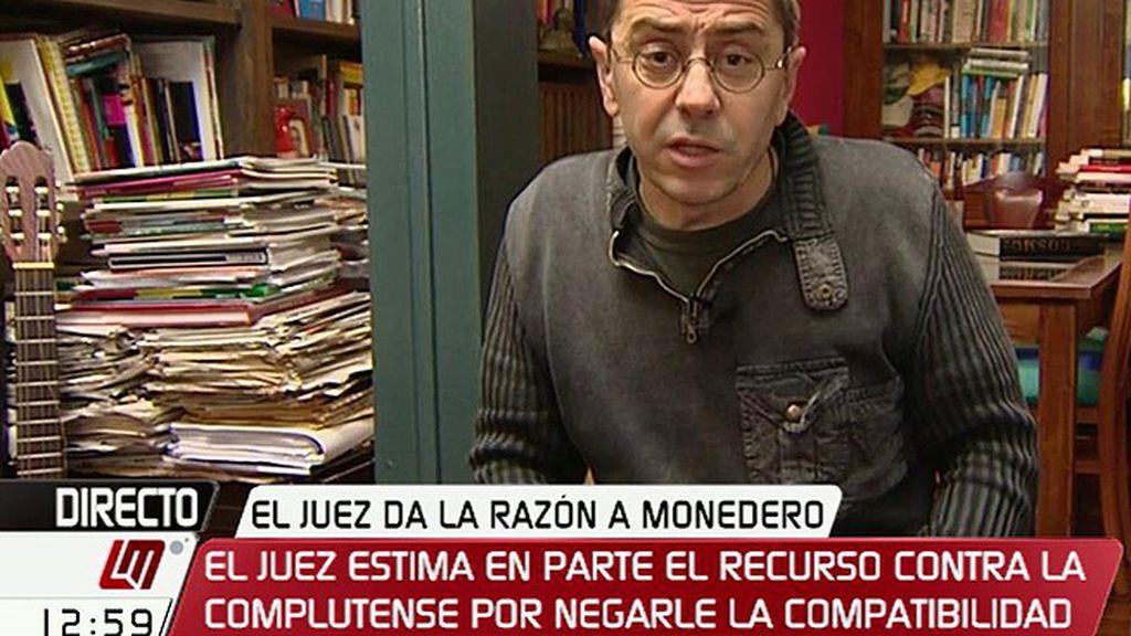 """Juan Carlos Monedero: """"Al final, el 100% de los juicios se van ganando"""""""
