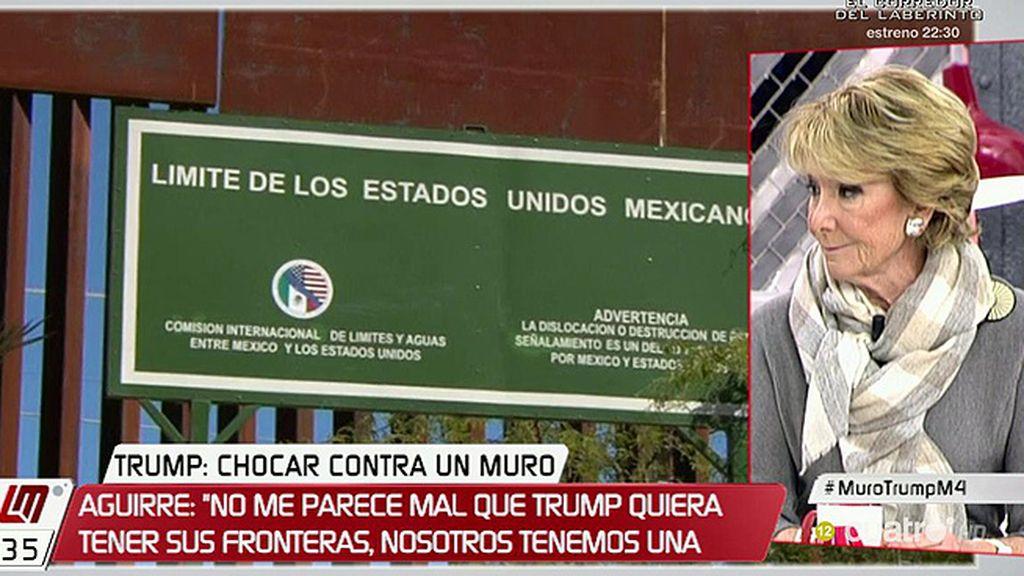"""Aguirre: """"Me horrorizó el discurso de toma de posesión de Trump, lo podría haber pronunciado Pablo Iglesias"""""""