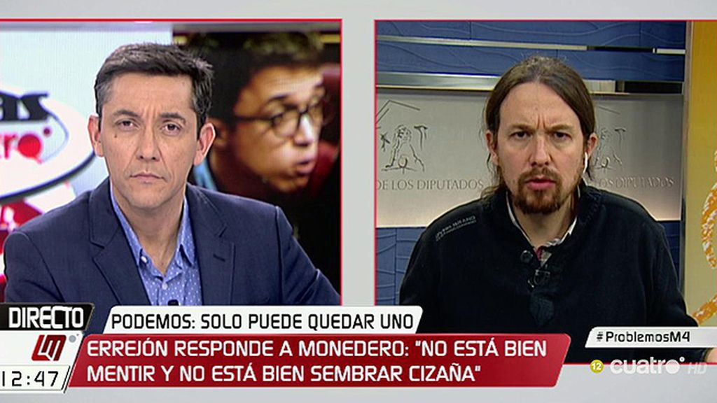 """Iglesias: """"Soy el secretario general y no me escucharán decir nada contra un compañero"""""""