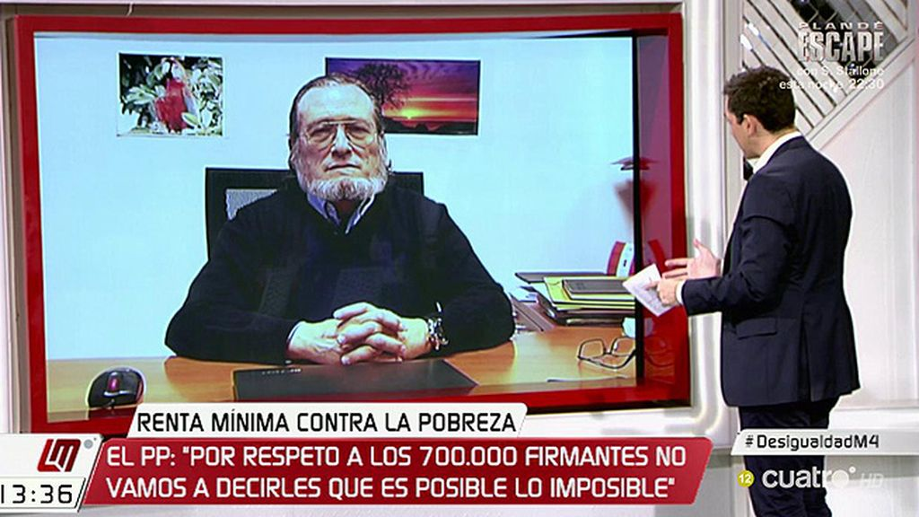 """Niño Becerra: """"Estoy a favor de la renta básica, no de la renta mínima aprobada"""""""