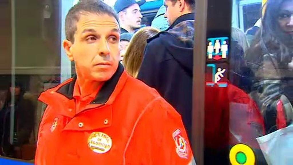 ¿Empujadores en el metro de Madrid?