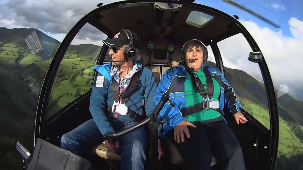 """Carmen se asusta en el helicóptero: """"No hace falta que subas tanto"""""""