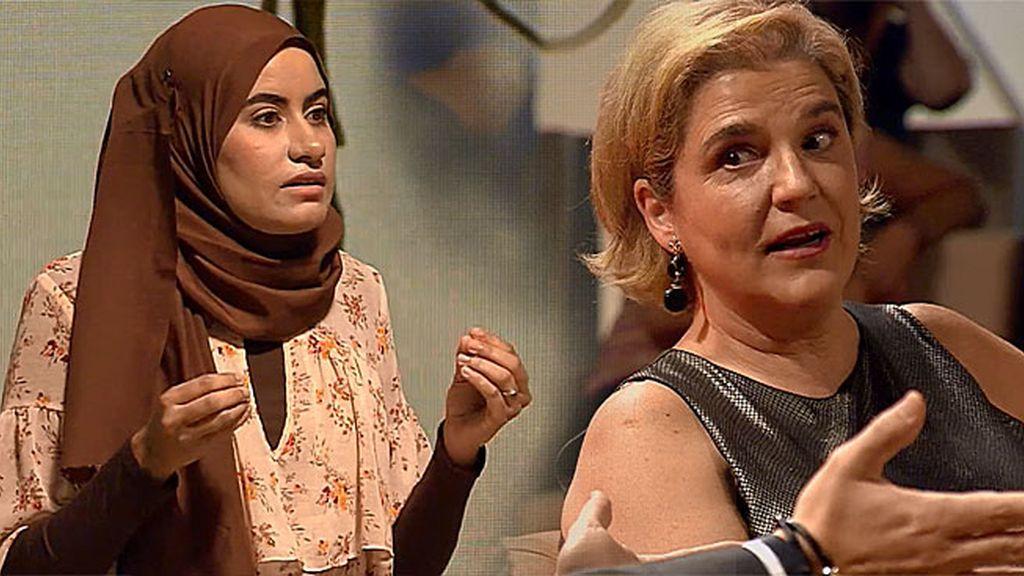 Pilar Rahola discute acaloradamente con Ramia Chaoui: ¿'Burkini' sí, o 'burkini' no?