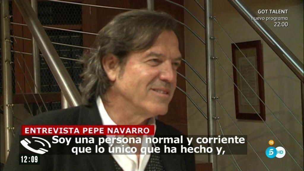 """Pepe Navarro: """"Este tema ha perjudicado mucho a mis hijos"""""""