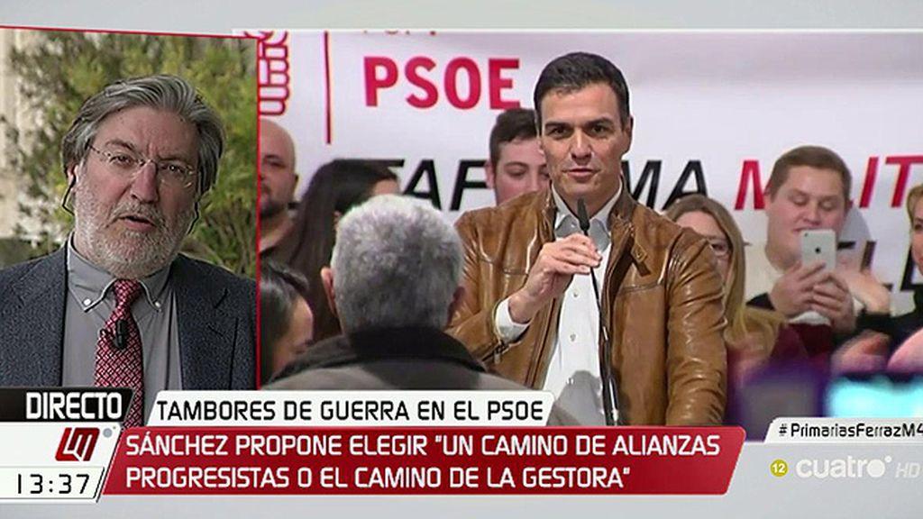 """J.A. Pérez Tapias: """"Creo que Sánchez está en posición muy adecuada para hacer esa carrera y llegar al final"""""""