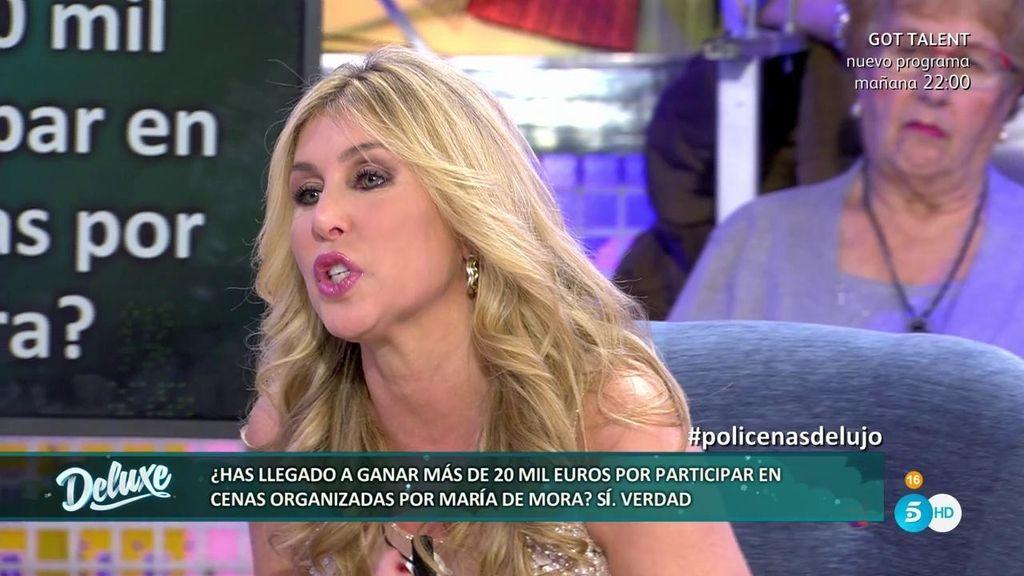 Malena Gracia llegó a conseguir 20.000€ en cenas organizadas por María de Mora