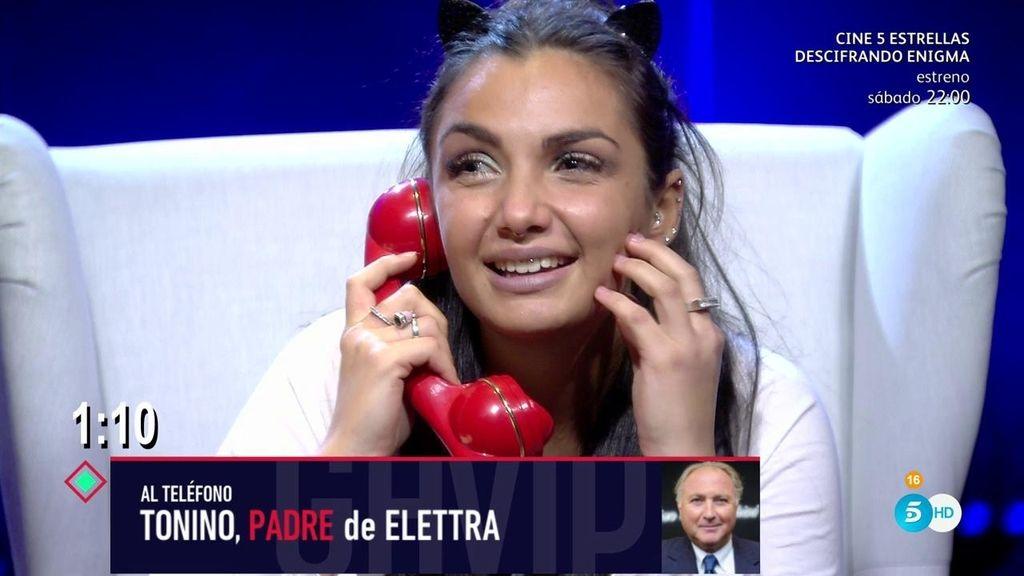 """Elettra recibe la llamada de su padre: """"Ti amo con tutto il cuore"""" 💘"""