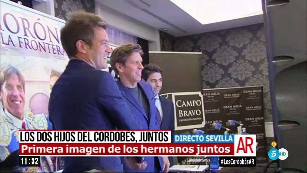 ¡Momento histórico! Manuel Díaz y Julio Benítez, juntos por primera vez