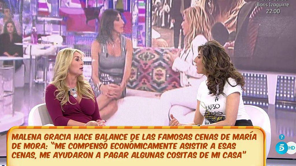 Malena Gracia y las polémicas cenas de María de Mora