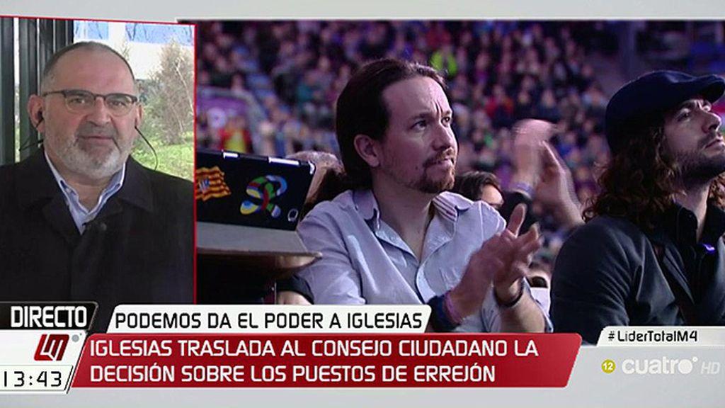 """Losada: """"Iglesias debería considerar el enorme coste que le ha supuesto ganar"""""""
