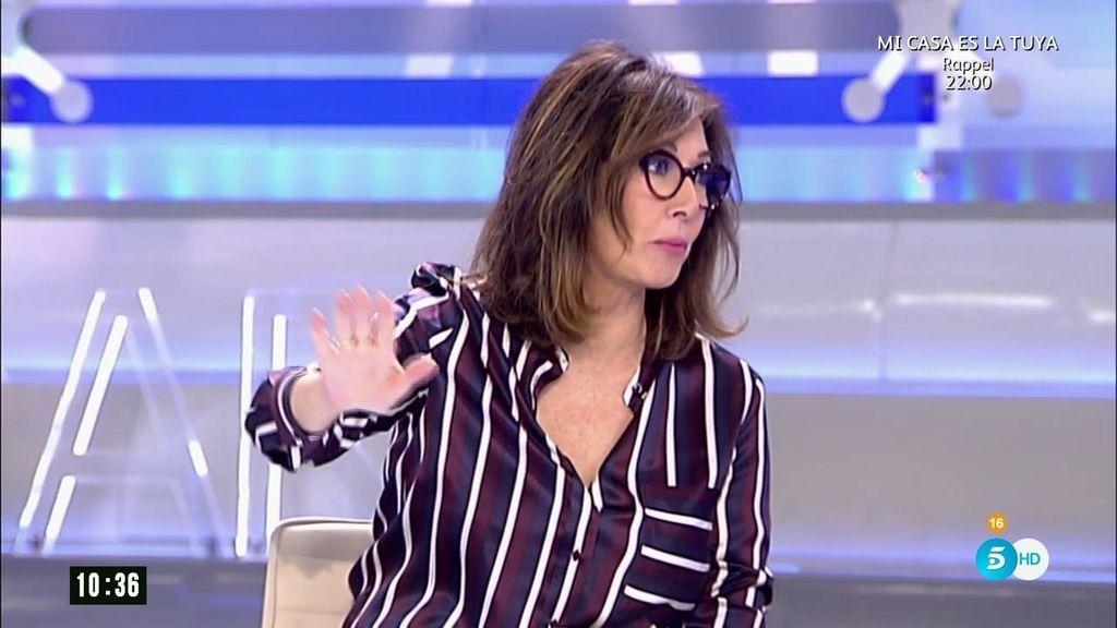 "Ana Rosa apoya a J.J. Vázquez: ""Fue un detalle tan feo que entiendo que se indigne"""
