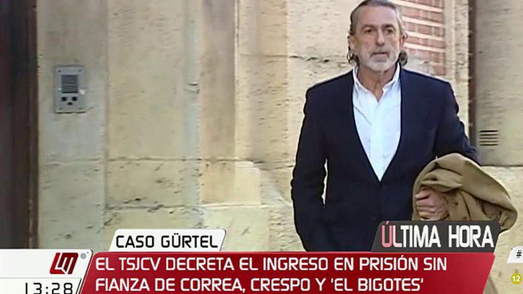 El TSJCV decreta el ingreso en prisión de Correa, Crespo y 'El Bigotes'