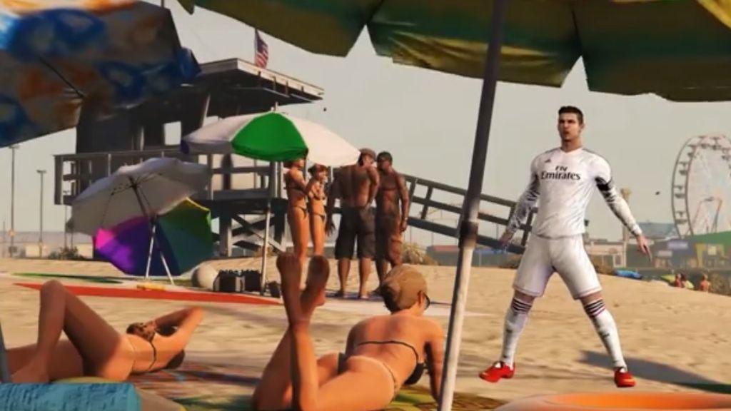 Cristiano Ronaldo visita Los Ángeles en el mundo digital del videjouego GTA V