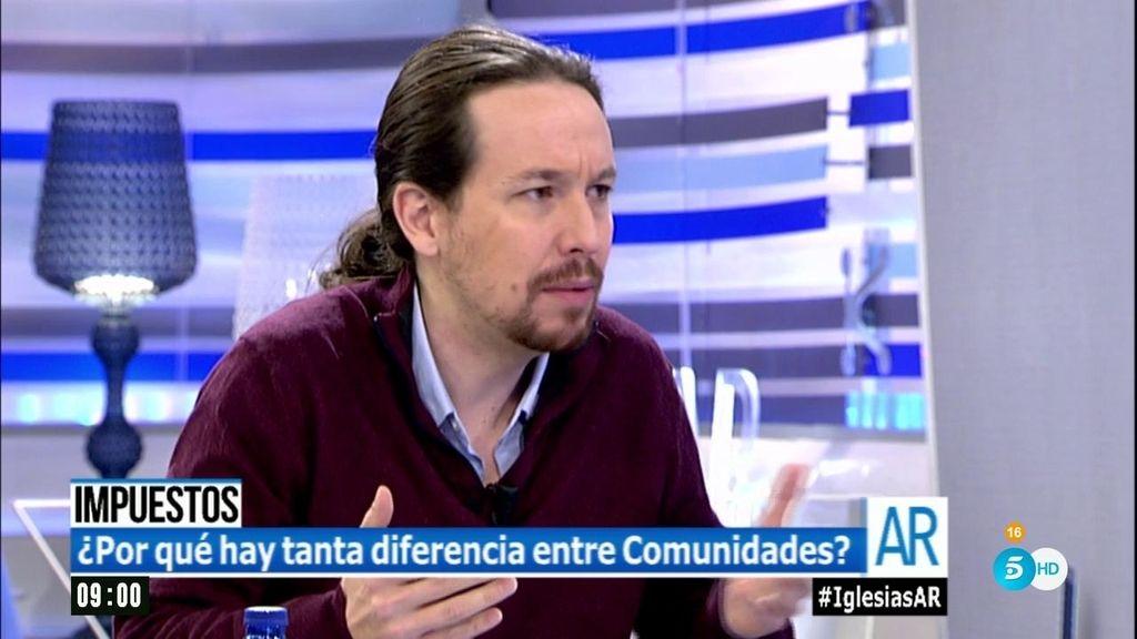 """Pablo Iglesias, sobre los impuestos: """"Que cada uno pague en función del bolsillo"""""""