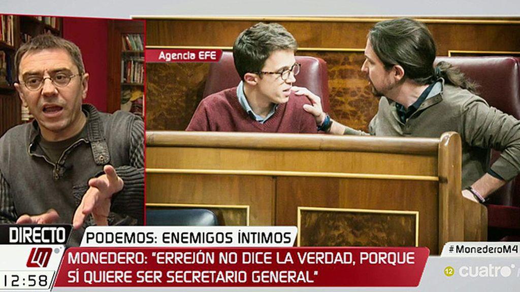 """Juan Carlos Monedero: """"Creo que lo que quiere Errejón es mandar"""""""