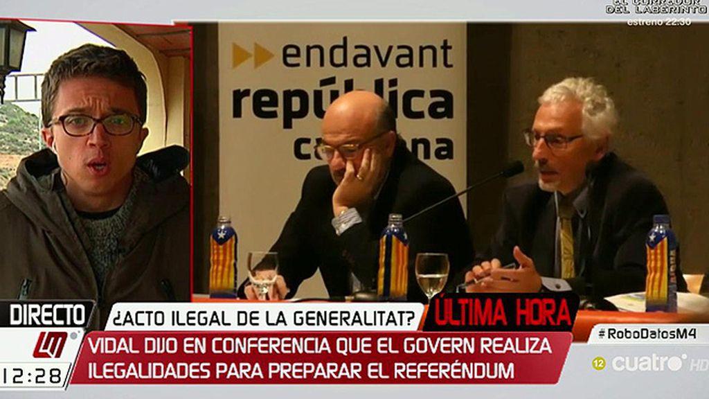 """Íñigo Errejón: """"Estamos asistiendo a un espectáculo de irresponsabilidad y de choque de trenes"""""""