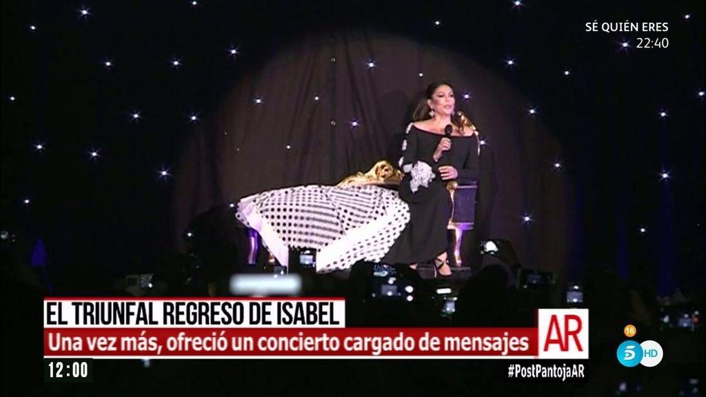 Los mensajes que envió Isabel Pantoja en su regreso a los escenarios