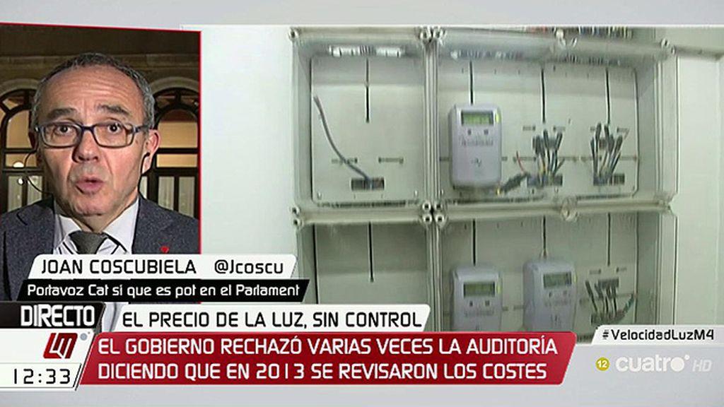 """Joan Coscubiela, sobre el precio de la luz: """"Nuestro sistema es perverso"""""""