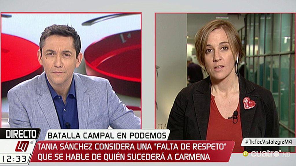 """T. Sánchez: """"Creo que es una falta de respeto hablar quién va a suceder a Carmena"""""""