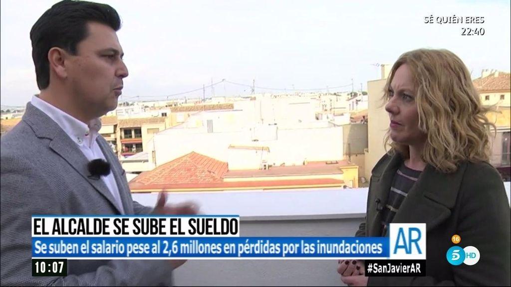 El alcalde de San Javier se sube el sueldo un 30% tras las inundaciones
