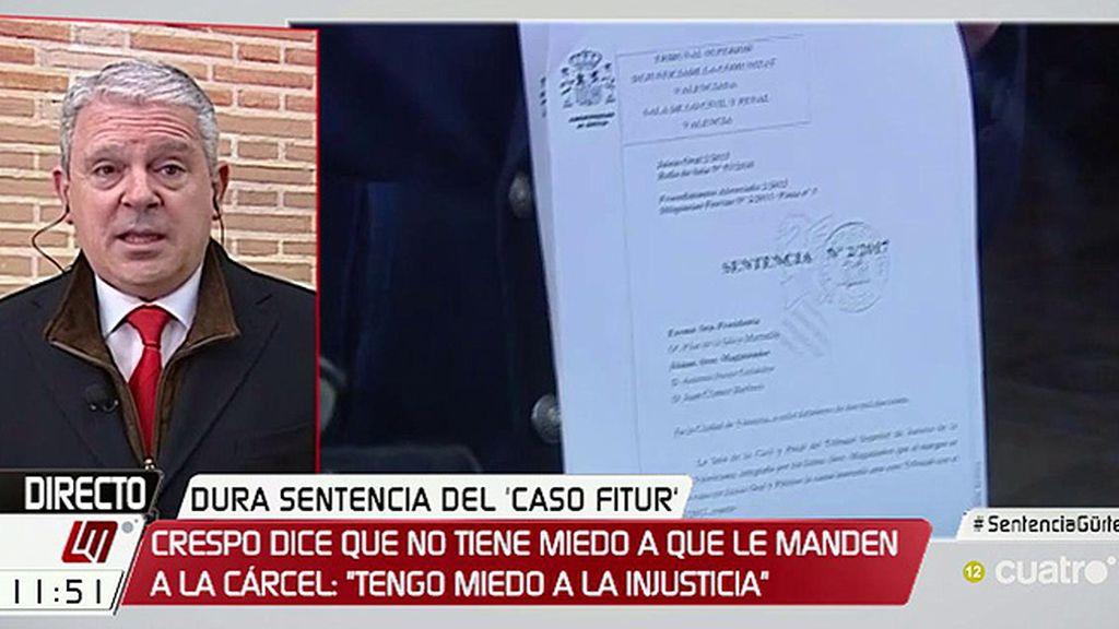"""Crespo, de la sentencia y el congreso del PP: """"No creo en las casualidades"""""""
