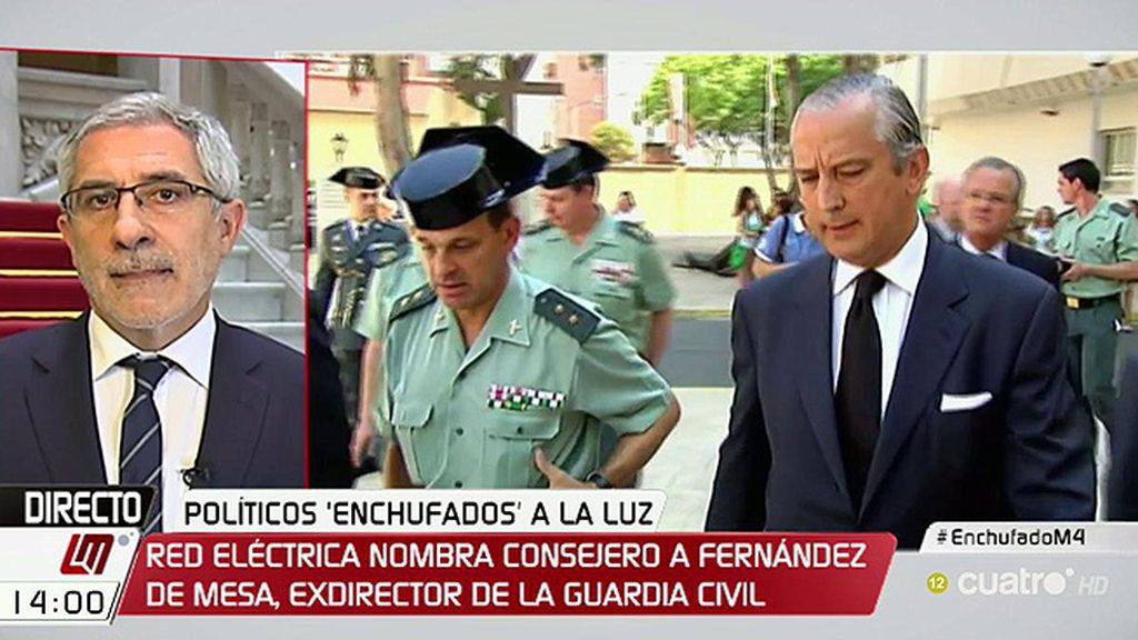 """Gaspar Llamazares, del fichaje de Fdez. de Mesa: """"Esto es un escándalo"""""""