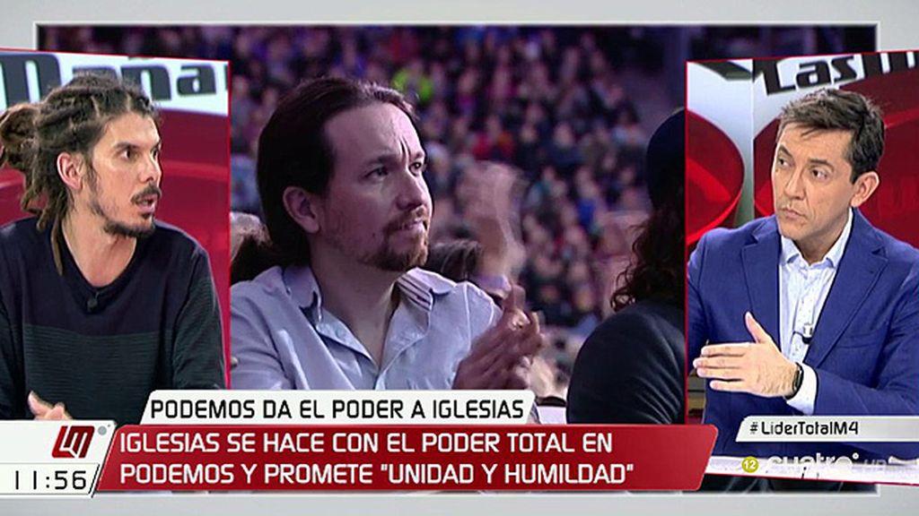 """Alberto Rodríguez (Podemos): """"Errejón tiene que continuar, es una de las piezas más valiosas de la política europea"""""""