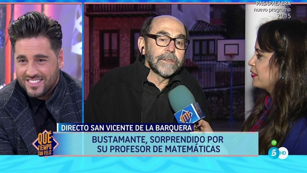 """Bustamante, sorprendido por su profesor de matemáticas: """"No pierdas tu humildad"""""""