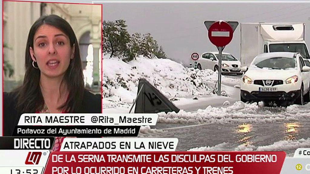 """R.Maestre, sobre el temporal: """"Hay que admitir que no lo han gestionado con previsión"""""""
