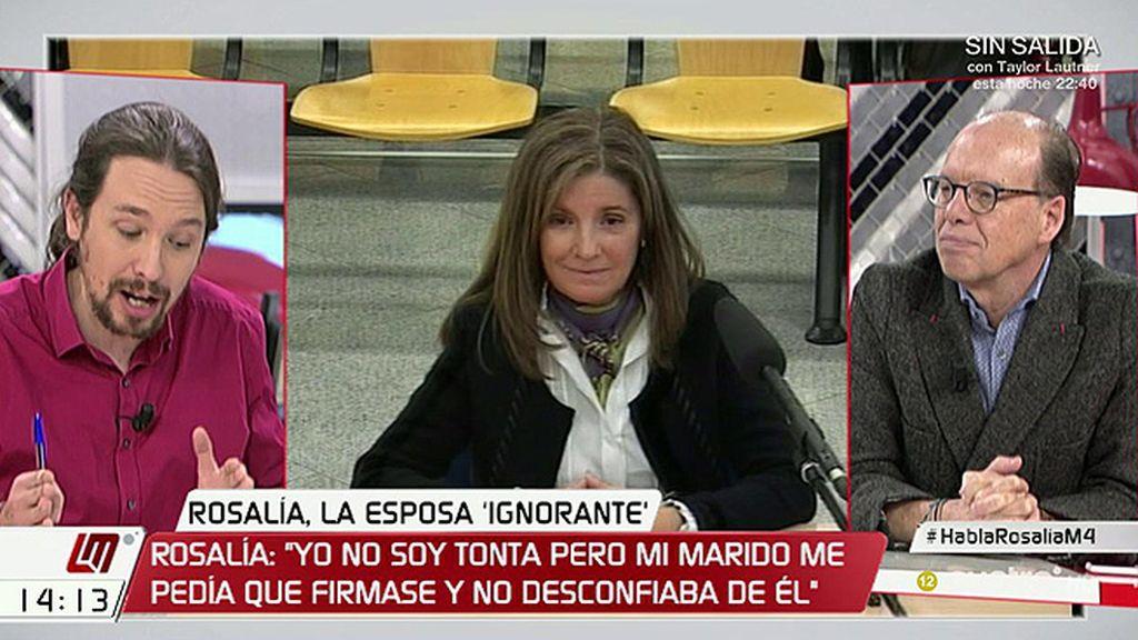 """Pablo Iglesias: """"Da la impresión de que el 'Bárcenas, sé fuerte', ha pasado al 'Bárcenas, sé prudente"""""""