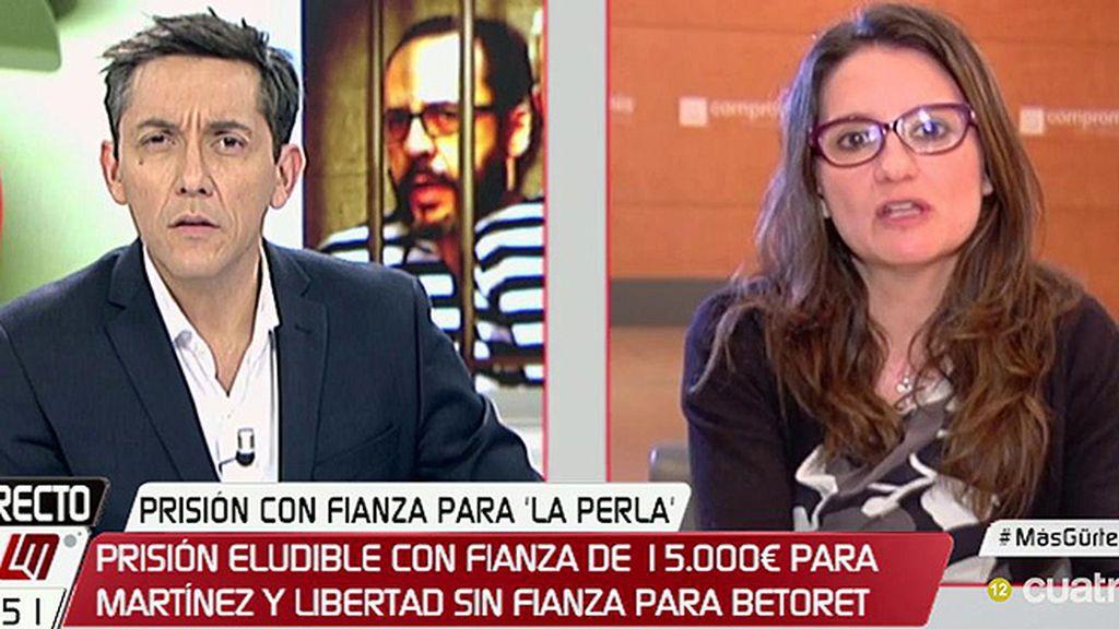 """Oltra: """"Creo que Rajoy está políticamente inhabilitado para ser presidente"""""""