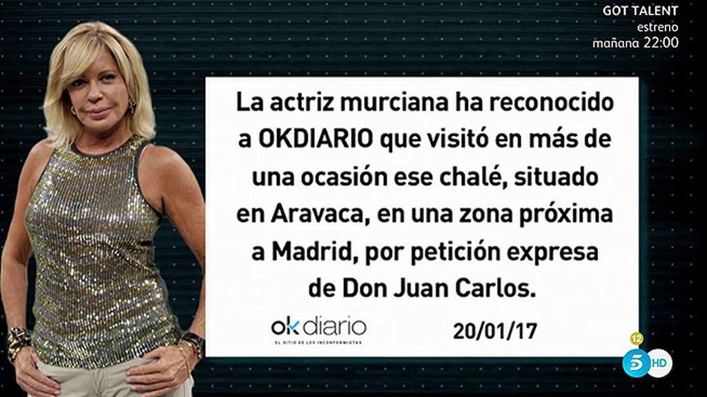 Bárbara Rey admite que mantenía citas con el Rey en un chalé que les prestaba el CNI, según 'Ok Diario'