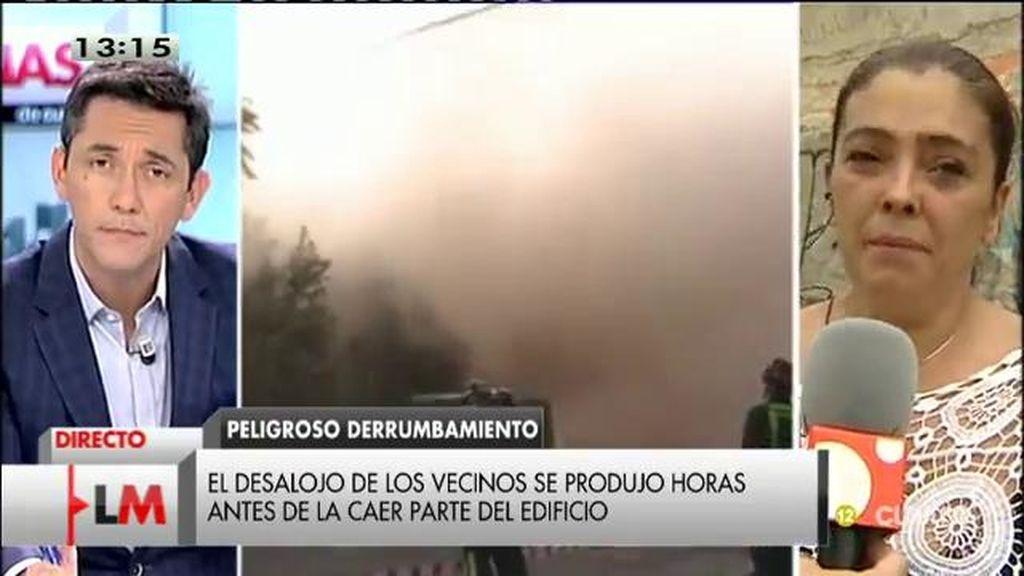 El testimonio de Lola, una de las personas que ha perdido su casa en el derrumbe de viviendas en Madrid