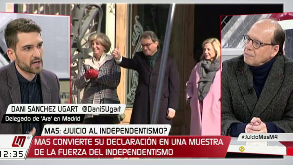 """D. Sánchez Ugart: """"Por mucho que España se cierre en banda y diga que no cabe referéndum, la gente seguirá ahí"""""""