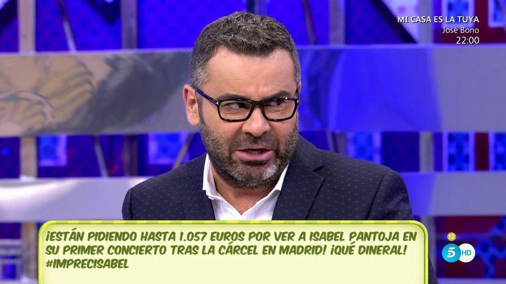 """Jorge Javier, de Isabel Pantoja: """"Su gran error es querer trabajar una noche y cobrar lo que ganaría durante un año"""""""
