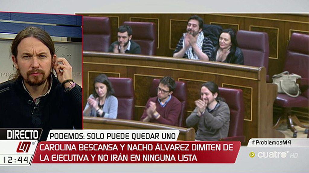 """Iglesias: """"Trabajé duro buscando la unidad, no ha sido posible y no pasa nada porque la gente elija entre dos liderazgos y proyectos"""""""
