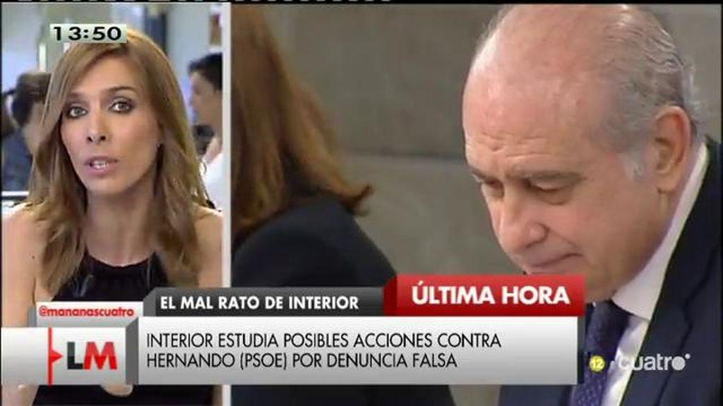 Interior estudia devolver la denuncia a Antonio Hernando bajo los supuestos de denuncia falsa y calumnias