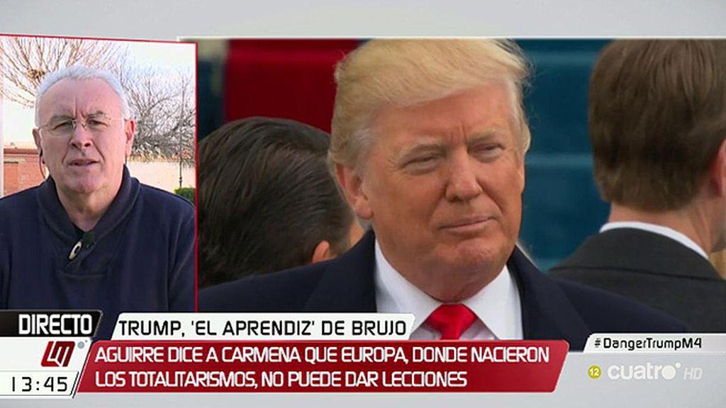 """C. Lara, de Trump: """"No hemos conocido en tan poco tiempo ningún presidente que haya atentado tanto contra los derechos humanos"""""""