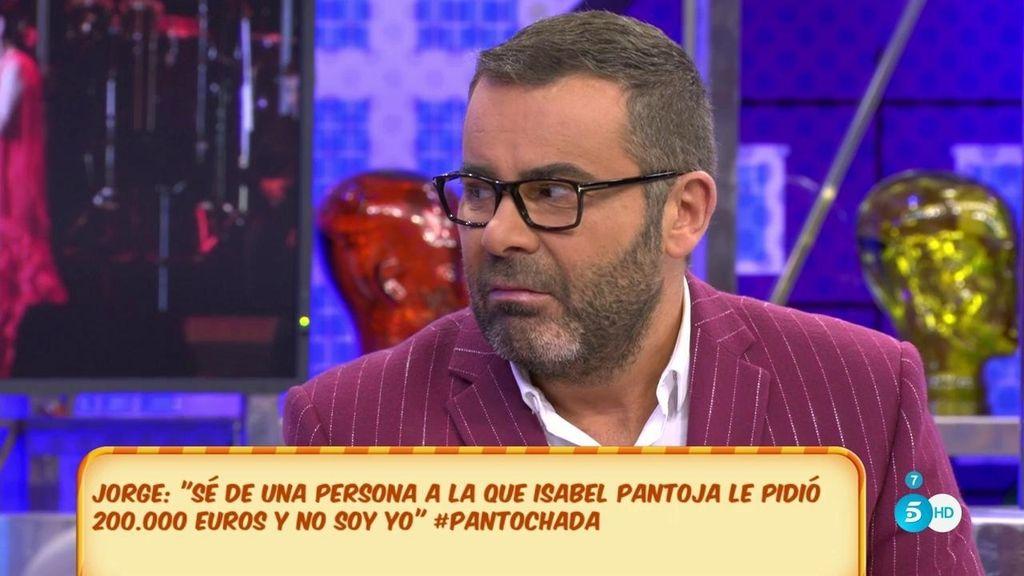 """Jorge Javier: """"Sé de una persona a la que Isabel Pantoja le pidió 200.00 euros"""""""