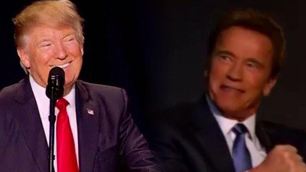 """Schwarzenegger, a Trump: """"¿Por qué no cambiamos los trabajos?"""""""