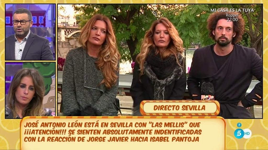 'Las Mellis' se sienten identificadas con la reacción de Jorge Javier hacia Isabel Pantoja