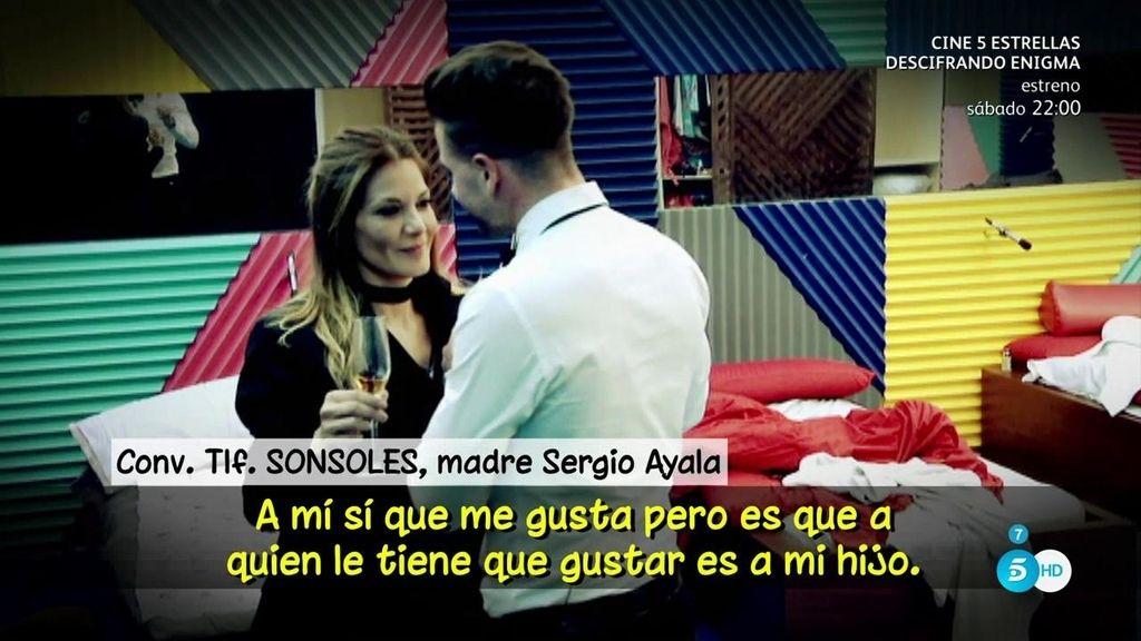 """Sonsoles, la madre de Sergio Ayala ve """"fenomenal"""" a su hijo con Ivonne pero dice: """"Enamorado, enamorado no está"""""""