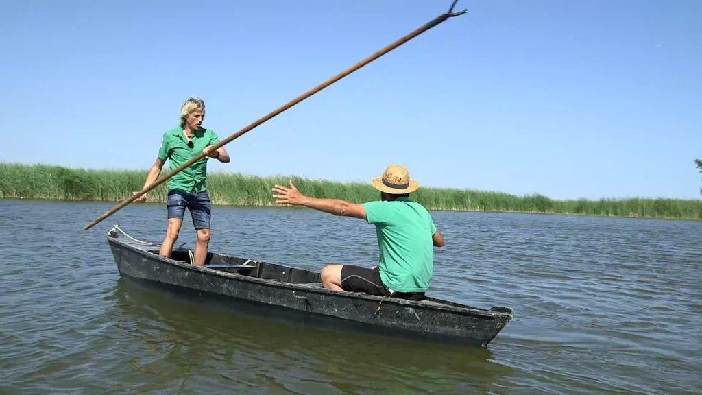 ¡Por fin! Jesús Calleja aprende a perchar en el Delta del Ebro