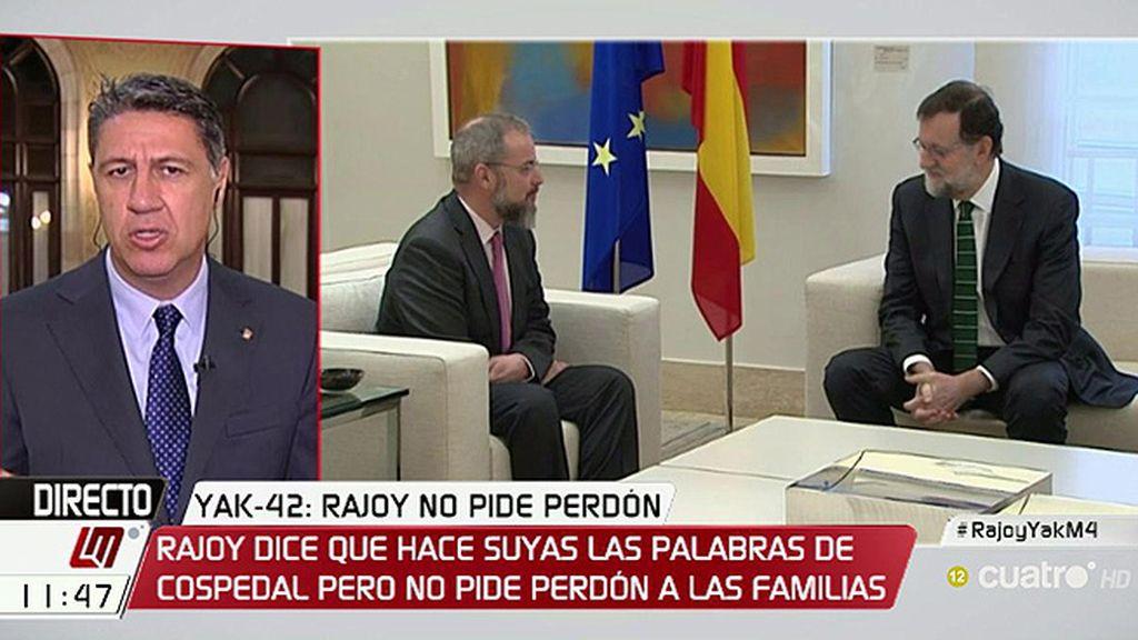 """Xavier García Albiol: """"La ministra ha pedido disculpas en nombre del Gobierno y a mí me parece que es suficiente"""""""