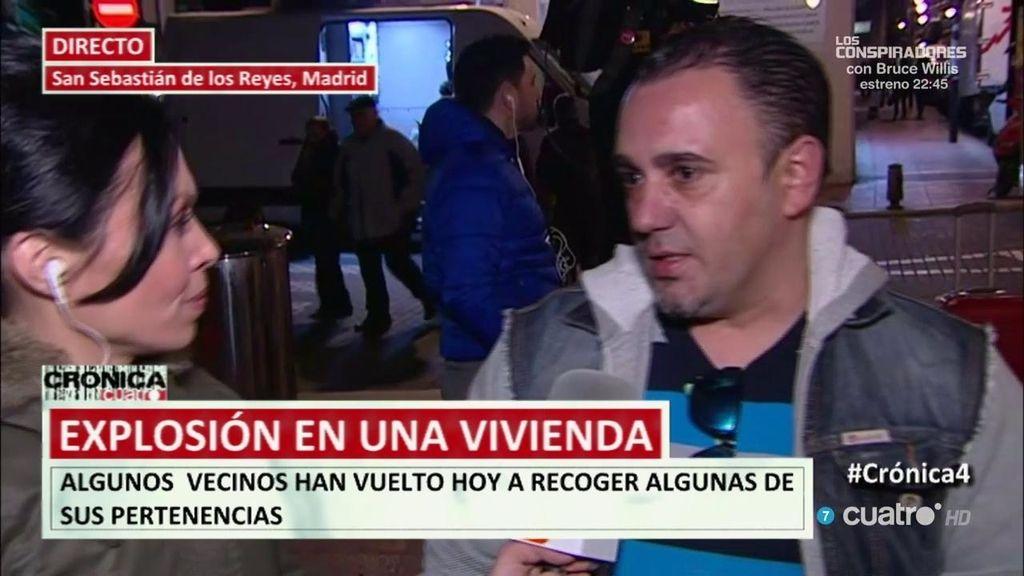 """Explosión en un edificio en Madrid: """"Lo pasamos verdaderamente mal"""""""
