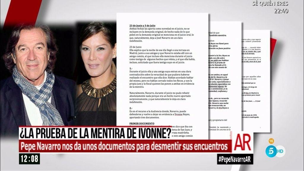 Pepe Navarro contraataca con documentos para desmontar a Ivonne Reyes