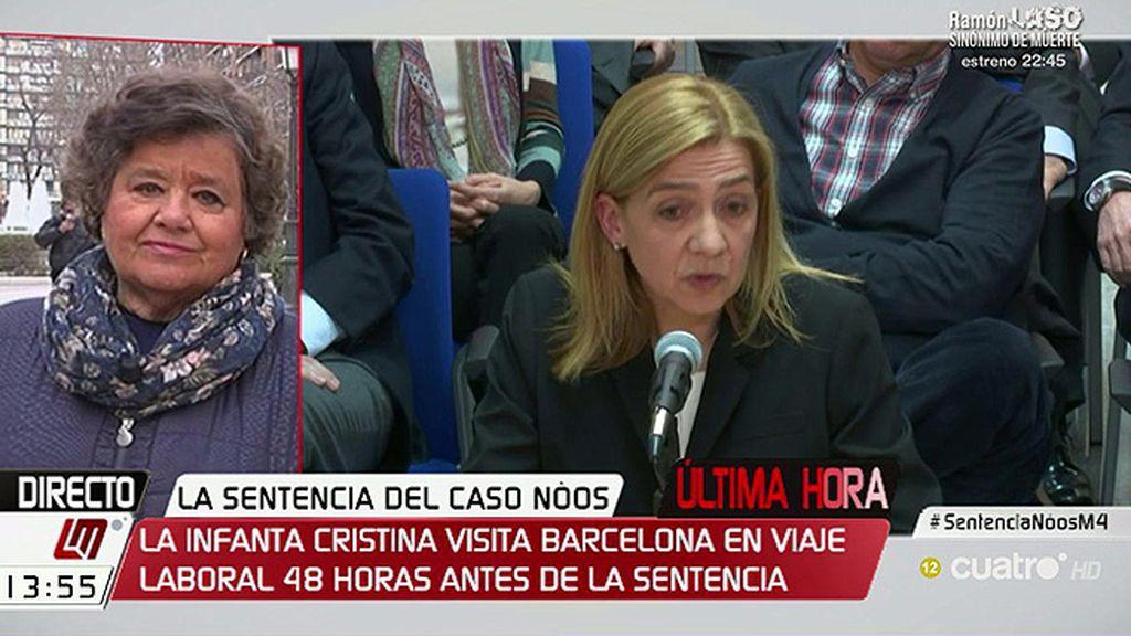 """Almeida, de la Infanta Cristina: """"Ha habido pasos para intentar que no se sentara"""""""