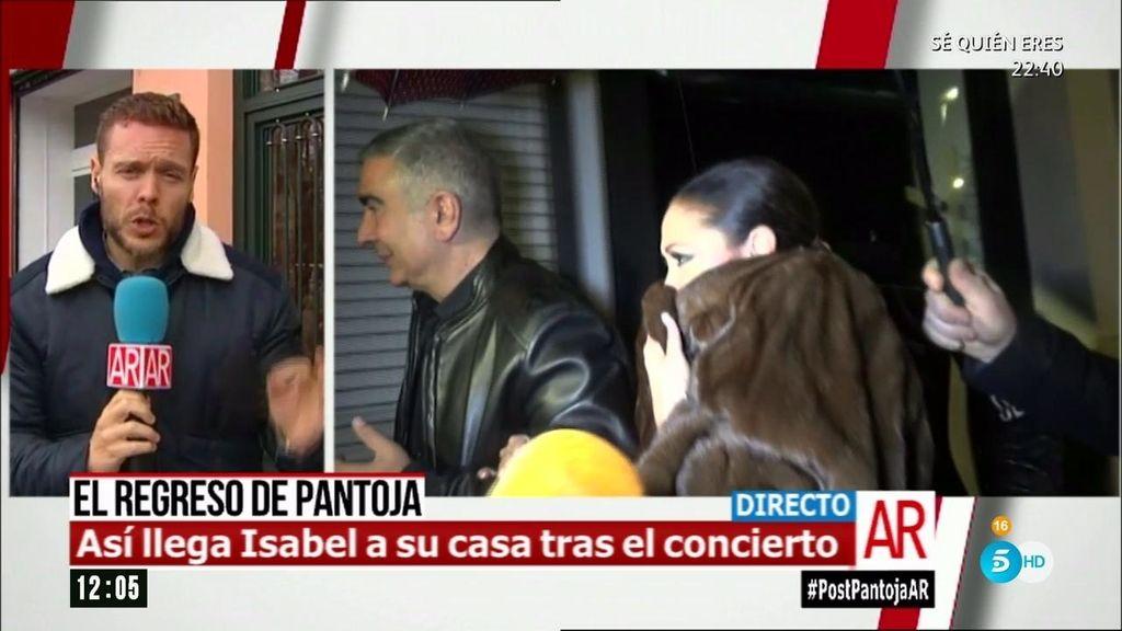 Imágenes inéditas: Así llegó Pantoja a su casa después de su concierto