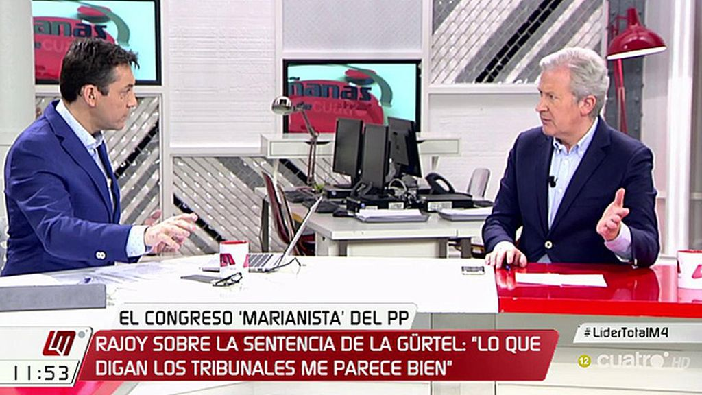 """Emilio del Río: """"Se nos han colado corruptos como a todos los partidos"""""""