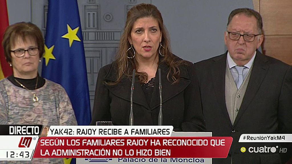 """Curra Ripollés asegura que salen """"esperanzados"""" tras la reunión con Rajoy: """"Nos dice que quieren hacer las cosas bien"""""""